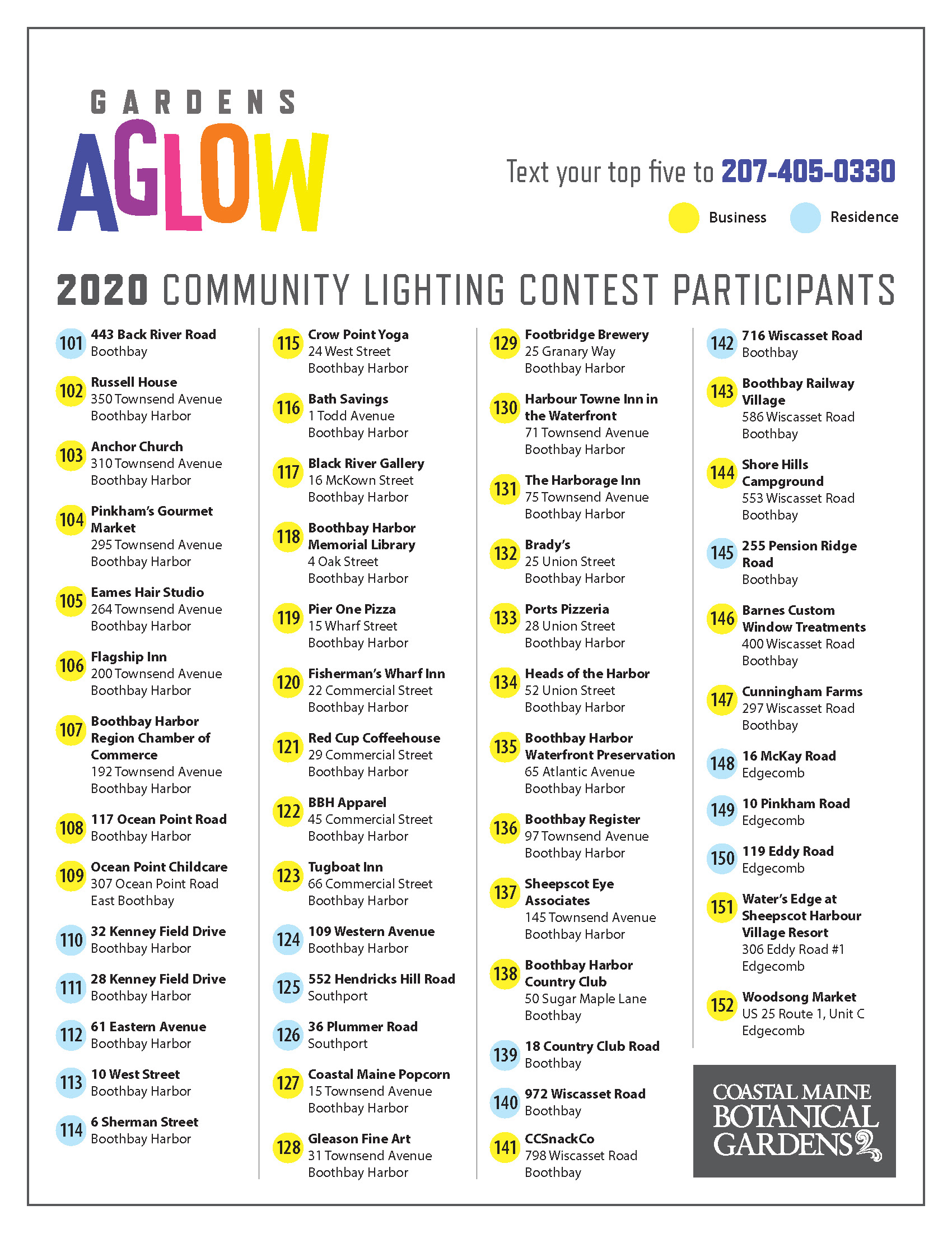 There are more than 50 Community Lighting Contest Participants.
